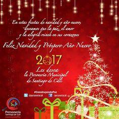 FELIZ NAVIDAD Y PRÓSPERO AÑO NUEVO 2017   :: En estas fiestas de navidad y año nuevo les deseamos que la paz el amor y la alegría reinen en sus corazones! ::  Personeria Municipal de Cali #ConstruyendoPaz