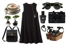 """strong and black"" by carolin3miller ❤ liked on Polyvore featuring Rachel Comey, Holga, VANRYCKE, Elizabeth and James, ASOS and Kate Spade"