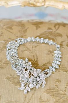 Statement Necklace to complete the #Bridal Look I Riverland Studios I http://www.weddingwire.com/wedding-photos/real-weddings/blush-historic-home-wedding/i/572f95991cde53fc-00b28b359fdc7bee/ad51bf70cf01a20c