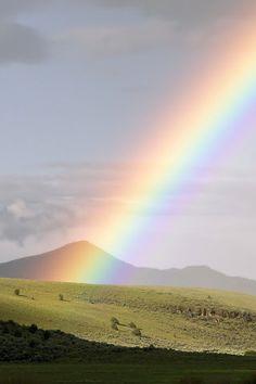 Rainbow across the sky