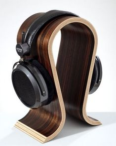 Wooden Omega Headphones Stand Hanger Holder Walnut Finish Wood Rack Hang Mount #Omega