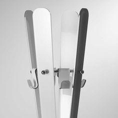 Appendiabiti in plexi 11 PUNTODUE con struttura in acciaio cm 30x30xh180,5 cm Avorio | Vesta | Stilcasa.Net: Arredamento studio