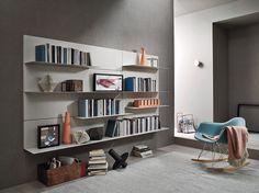 Perfekt Das Moderne Bücherregal Aus Italien Ist Durch Seinen Modularen Aufbau Ein  Wandregal Das Individuell Umgestaltet Werden