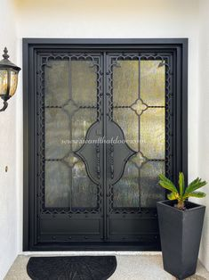 Did you know If you go out to purchase an iron door for your home, the first thing you need to consider is the design? 💡 About this design: Santa Barbara Double Entry Iron Door ☎️️ 877-205-9418 🌐 www.iwantthatdoor.com