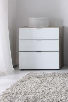 Nachtkonsole Dekor Weiß/Alpinglas #Schlafzimmer #gutenacht