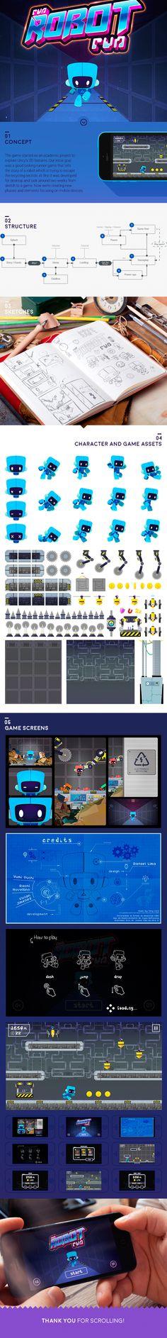 Run Robot, Run! Game Design, Illustration, UI/UX  Design by - Rafael Lima