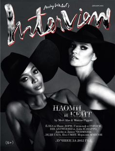 Mert and Marcus captures Naomi Campbell & Kate Moss to the December cover story of both German and Russian Interview. Fashion Magazine Cover, Fashion Cover, Cool Magazine, Magazine Covers, Naomi Campbell, Kate Moss, Alas Marcus Piggott, Moss Fashion, High Fashion