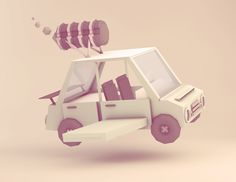 Random Low Poly Objects by Dennis Cortes, via Behance