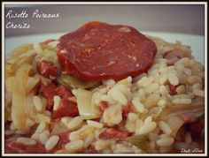 Risotto Poireaux Chorizo au Cookéo Chana Masala, Fried Rice, Fries, Ethnic Recipes, Food, Table, Risotto, Cooker Recipes, Drinks