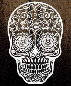 6-Sugar-Skull-Day-of-The-Dead-Die-Cut-Vinyl-Decal-Sticker-Choose-Color-4