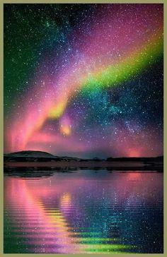 Reflecting Aurora Borealis...beautiful!