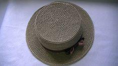 Crochet Summer Hats, Crochet Baby Hats, Cotton Crochet, Irish Crochet, Crochet Hooks, Free Crochet, Knitted Hats, Crochet Doll Pattern, Knit Patterns