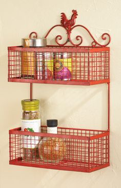 Rustic Kitchen Two Tier Rooster Wall Rack from Collections Etc. Rustic Cafe, Rustic Restaurant, Rustic Cottage, Rustic Kitchen, Rustic Logo, Rooster Kitchen Decor, Rooster Decor, Rustic Farmhouse, Modern Rustic
