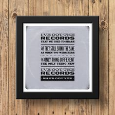 Patsy Cline - She's Got You - Music Lyrics Poster Print - Classic Country & Western - Vintage - Retro - Vinyl - Records - Turntable Your Music, Music Is Life, Patsy Cline, Yours Lyrics, Music Lyrics, Paper Size, Poster Prints, Art Print, Vinyl Records