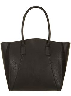 Black panel large tote bag