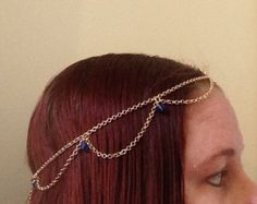 Check out U PICK COLORS-Sexy wavy faux pearl (or blue, pink, red, green etc) head chain, gold or šilver tone chain- wedding prom party /Fast Shipping! on gypsybeachbodyjewels