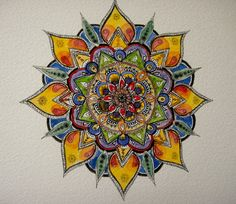 This is so gorgeous. . It makes me want to start making mandalas again.
