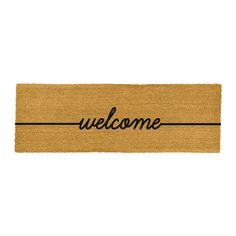 Welcome your guests in style with this Welcome door mat from Artsy Doormats. In a large double width, this simple door mat is made from high-quality coconut fibre and has been handcrafted in the UK. I