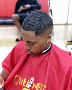 Barber Keep me crispy When you're in Houston check out Black Men Haircuts, Black Men Hairstyles, African Hairstyles, Men's Haircuts, Bald Fade With Waves, Black Hair Cuts, Waves Haircut, Hair And Beard Styles, Cut And Style