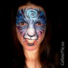 """not your average tiger"" Facepainting by www.colourme.nz #InspirationToPaint…"