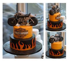 Blaze Birthday Cake, 9th Birthday, Cakes For Men, Edible Art, Beautiful Cakes, Lady, Harley Davidson, Cake Decorating, Zurich