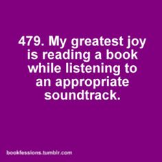 bookfession #479 - I love when authors post playlists they listened to while writing so I can try to figure out where each song belongs in the book