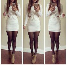 vestido blanco medias