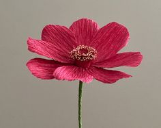 Crepe Paper Gerber Daisy Single Stem Wedding by NectarHollow