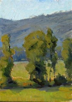 """Daily Paintworks - """"Sauvie island Trees - plein a..."""" by Michael Orwickhttp://www.dailypaintworks.com/artists/michael-orwick-3592/artwork  $50 www.michaelorwick.com"""