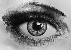 Eye detail, pencil drawing, 2015