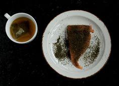 salmon y té verde