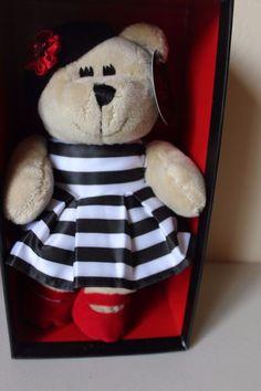 8476b967d1d Details about Starbucks Alice & Olivia Bearista Bear Black White Dress  Plush Stacy Bendet