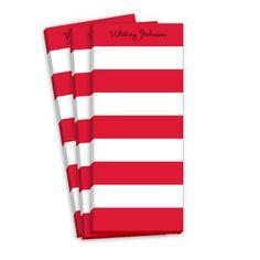 Red Stripe Skinnie Notepads