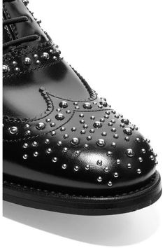 Church's - The Burwood Met Studded Glossed-leather Brogues - SALE20 at Checkout for an extra 20% off