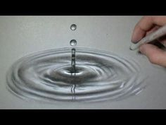 Art Ed Central loves: Fun Realistic Drawing - the impact of a drop on water