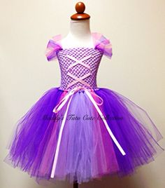Where was this when my Joy and Happiness were little?  Adorable!  NEWRapunzel Inspired Tutu Dress by MTCCollection on Etsy, $35.00