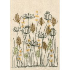 Cream teasels postcards