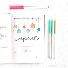 April's theme- Space!! ☺️ Here's the cover page ✨ (inspired by something I saw on google haha)