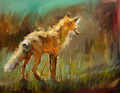 Ready to Pounce by Diane whitehead Oil ~ 22 x 28
