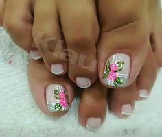 en a orden er Cute Toe Nails, Toe Nail Art, Pretty Nails, Acrylic Nails, Toenail Art Designs, Pedicure Designs, Toe Nail Designs, Cute Pedicures, Manicure And Pedicure