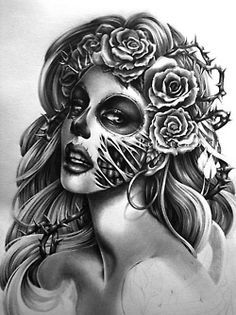 88 Best Zombie Girl Tattoo Designs Images Day Of Dead La Catrina