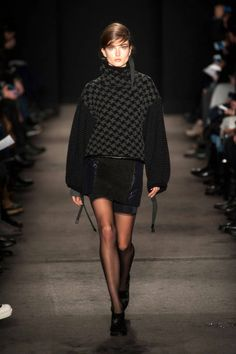 Already ready to curl up in this oversized sweater at Rag & Bone Fall 2013 #NYFW