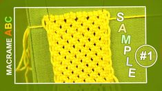Macrame ABC - pattern sample #1 ..  Useful macrame design elements for various projects. SUBSCRIBE to chanel an get get the latest samples!