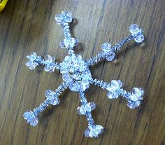 pipe cleaner snowflakes - winter themed class party