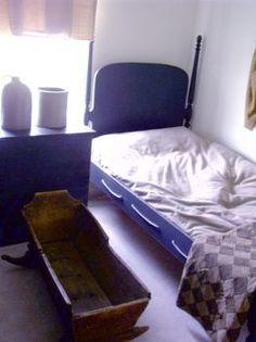 Image result for blue rope bed primitive bedroom