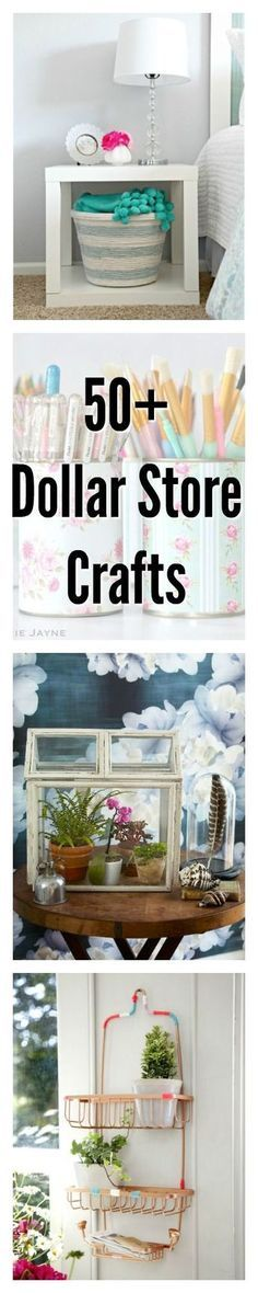 From organization solutions to beautiful decor, you won't believe these crafty ideas started at the dollar store. From organization solutions to beautiful decor, you won't believe these crafty ideas started at the dollar store. Diy Craft Projects, Diy House Projects, Diy Home Crafts, Decor Crafts, Craft Ideas, Crafts Cheap, Craft Tutorials, Dollar Store Hacks, Dollar Stores