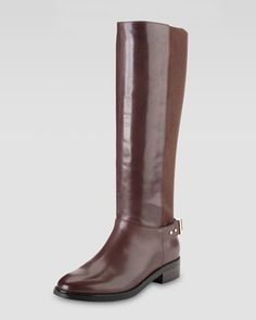 Adler Flat Knee Boot, Chestnut by Cole Haan at Neiman Marcus.