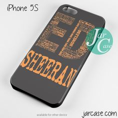 Ed Sheeran Typography Phone case for iPhone 4/4s/5/5c/5s/6/6 plus