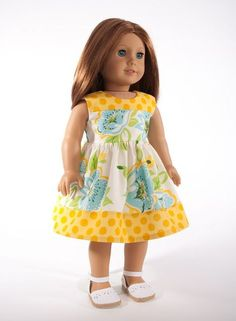American Girl doll clothes 18 inch doll clothing by | http://beautifuldressocie.blogspot.com