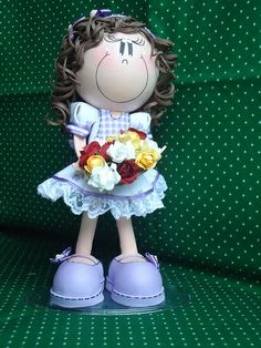 love the outfit on this little gal...fun foam doll...